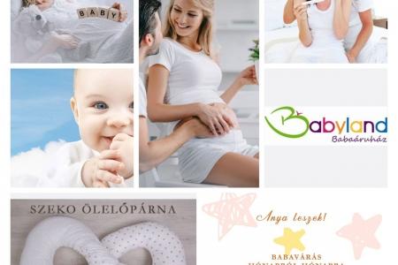 """LAVENDER DESIGN - Babyland Babaáruház Facebook """"Anya leszek"""" posztsorozat borítóterv"""