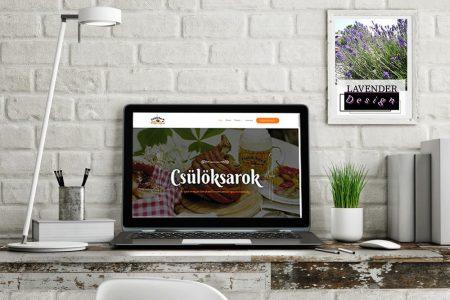 LAVENDER DESIGN - Csülöksarok Étterem megújult weboldala