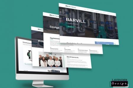 LAVENDER DESIGN - BARVILL SZERVIZ Kft. megújult weboldala
