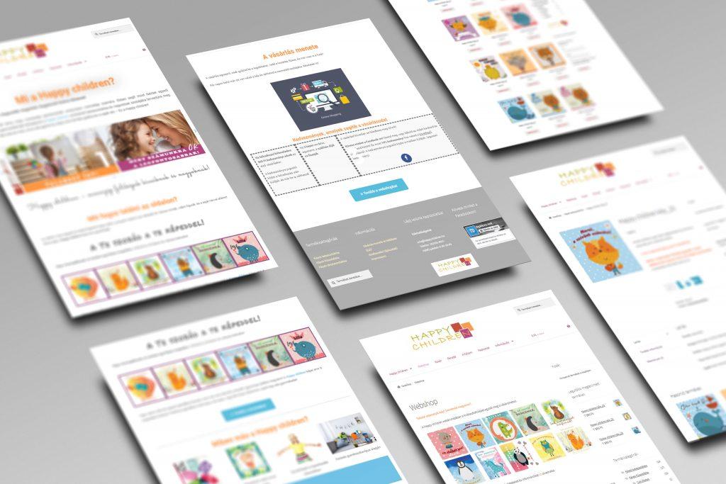 Happy children website és webshop