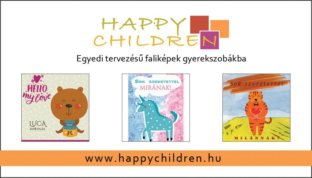 Happy children névjegykártya