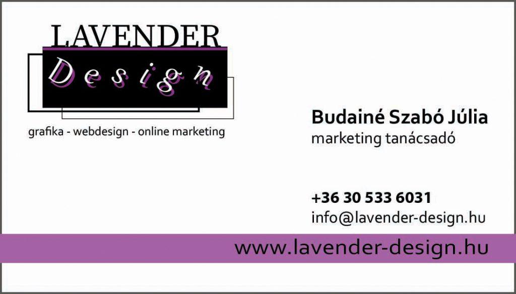 LAVENDER Design névjegykártya