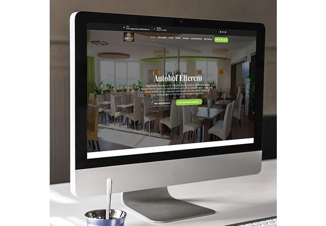 Autohof étterem weboldal