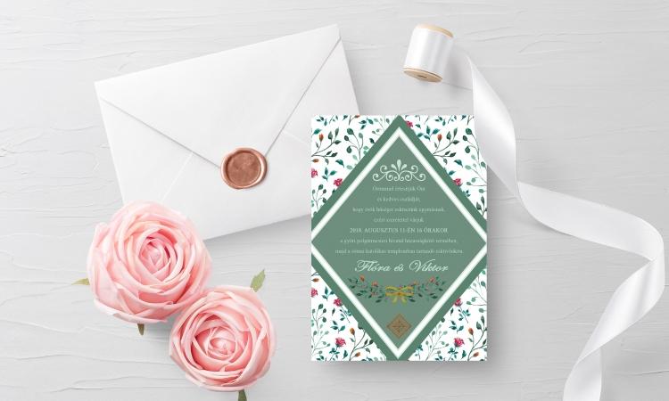 LAVENDER Design Esküvői meghívó