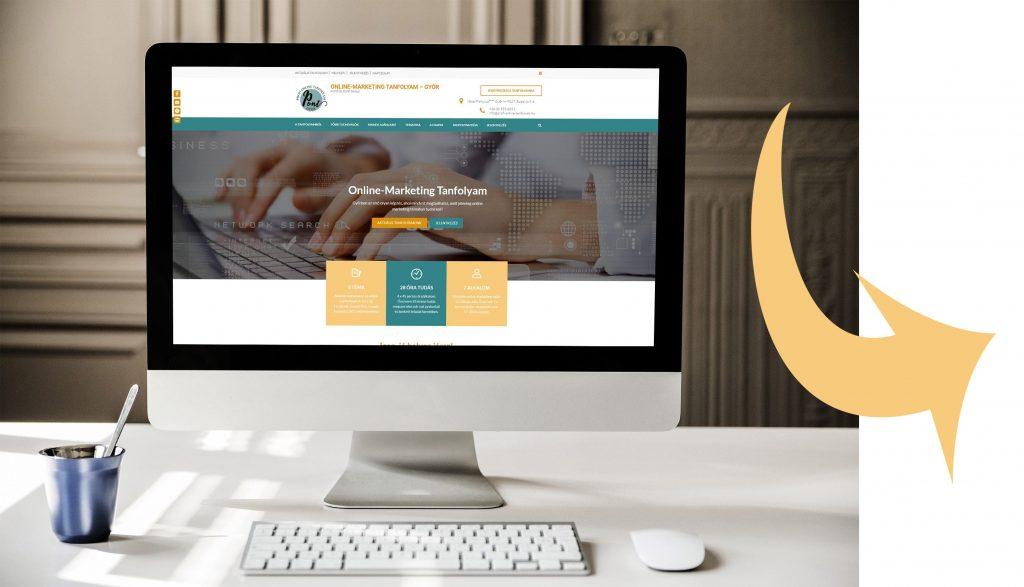 Profi Online Tanfolyam weboldala