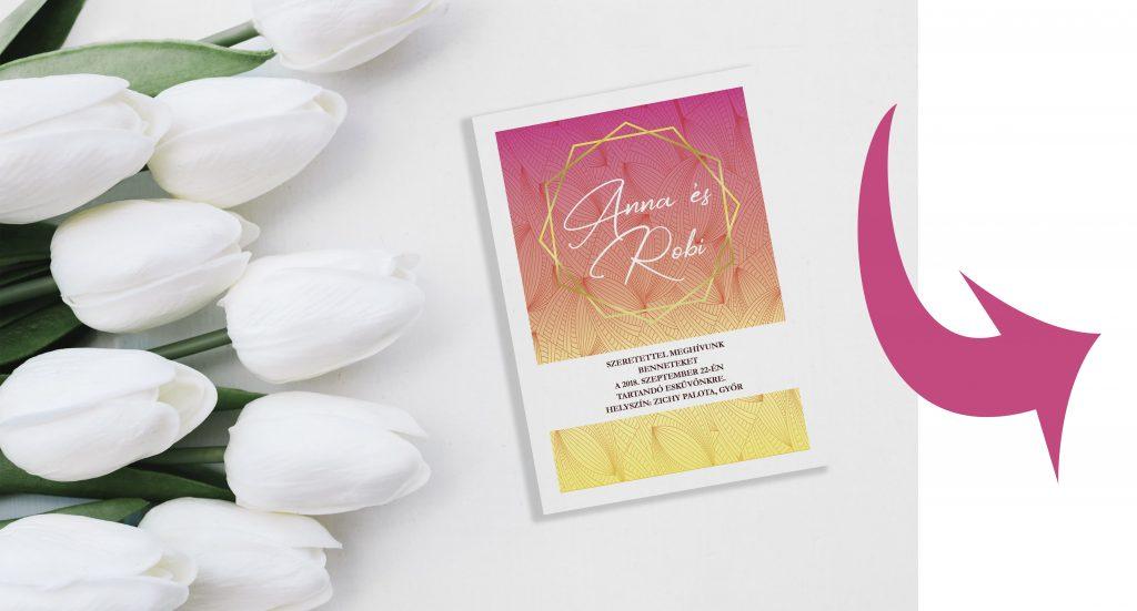 LAVENDER DESIGN - Esküvői meghívó