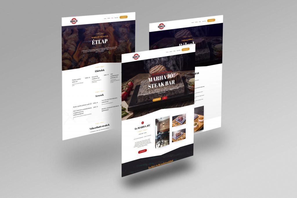 MARHAJÓ! STEAK BAR weboldal-LAVENDER Design -weboldalkészítés győr
