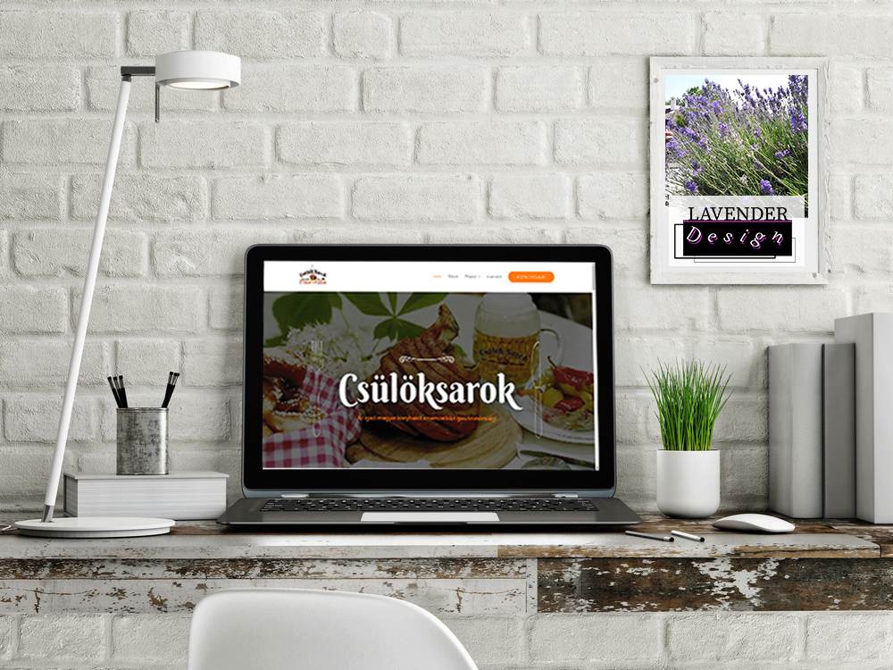Csülök Sarok weboldal-LAVENDER Design -weboldalkészítés győr